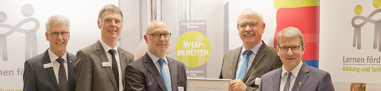 Verleihung der Urkunde Wegbereiter 2018 2019 an EMPAC